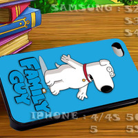 Family Guy Brian Griffin For iphone 4 iphone 5 samsung galaxy s4 / s3 / s2 Case Or Cover Phone.