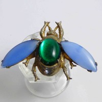 Figural Housefly Vintage Estate Huge Pin Brooch