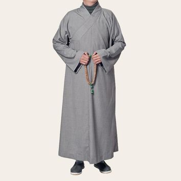 unisex 2color thick cotton top quality Spring&autumn clothing lay suits meditation Buddhist monks zen robe martial arts uniforms