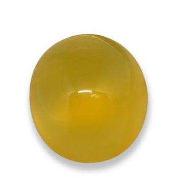 4.74 ct  Oval Cabochon Yellow Agate 11.6 x 10.3 mm