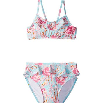 Lilly Pulitzer Kids Breakwater Bikini (Toddler/Little Kids/Big Kids) Spa Blue Jellies Be Jammin Mini - Zappos.com Free Shipping BOTH Ways
