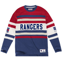 Mitchell & Ness Open Net Longsleeve New York Rangers In Red/ Blue