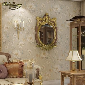 beibehang papel de parede 3d Retro pastoral flowers Wallpaper for living room Bedroom wall papers home decor papel contact roll