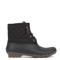 Sperry Saltwater Quilted Duck Boots - Black