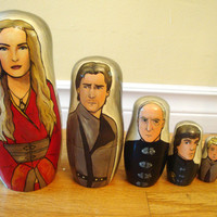 Set of Seven Game of Thrones (The Lannisters) Nesting Dolls
