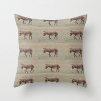 Baby Donkey Multiplied Throw Pillow by Veronica Ventress