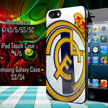 Real Madrid Logo art Samsung Galaxy S3/ S4 case, iPhone 4/4S / 5/ 5s/ 5c case, iPod Touch 4 / 5 case