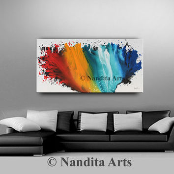 Ocean Canvas Art Acrylic Large Painting, Original Painting, Contemporary Art Home Decor, Abstract Expressionist Artwork - Nandita