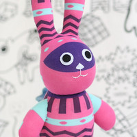 Stuffed Easter Bunny Stuffed Animal Cute Plush Toy Bunny Kawaii Plushie Bunny the Snuggly Cuddly sock Toy (F)   Ready to Ship
