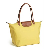 Longchamp Le Pliage Large Nylon Tote! Lemon