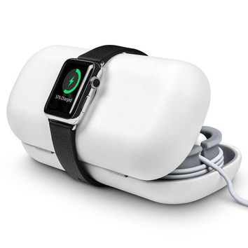 DCK4S2 Twelve South TimePorter for Apple Watch, white | Apple Watch accessory travel case + bedside charging stand