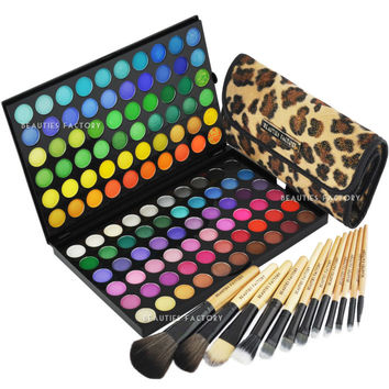 120 Color Eyeshadow Palette & 12pcs African Leopard Makeup Brush (89A-177L)