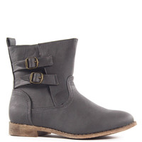 Buckle Up Boots - Grey