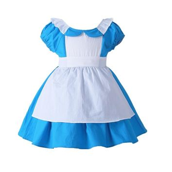Alice In Wonderland Costume Dress Lolita Dress Maid Cosplay Carnival Costumes For Kid Children