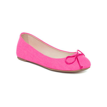 Hot pink Addy II Flat by French Follies