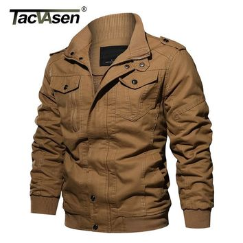 Trendy Winter Jacket TACVASEN Winter Men  Coat Military Thermal Fleece  Thick Men's Army Pilot  Air Force Casual Cargo Jaqueta AT_92_12