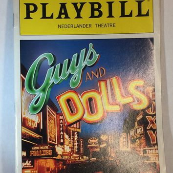 Guys and Dolls Playbill
