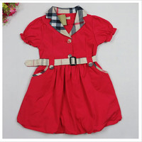 Classic English Princess Plaid Party Dress