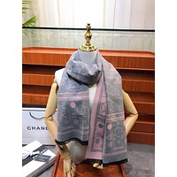 Chane Double C  print scarf autumn and winter new classic print pattern shawl big square scarf