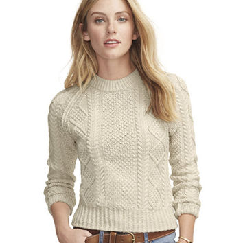 Women's Signature Cotton Fisherman Sweater at L.L.Bean