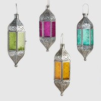 Small Colored Glass Raya Hanging Lantern