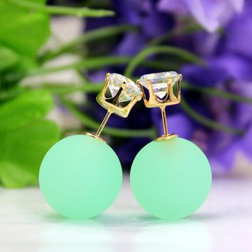 Candy Color Sided Eraser Bead Earring