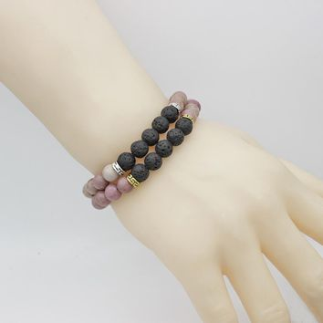 Volcanic Dripping Essential Oil Lava Yoga Adjustable Bracelet