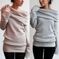Fashion Long Sleeve Pullover Sweater