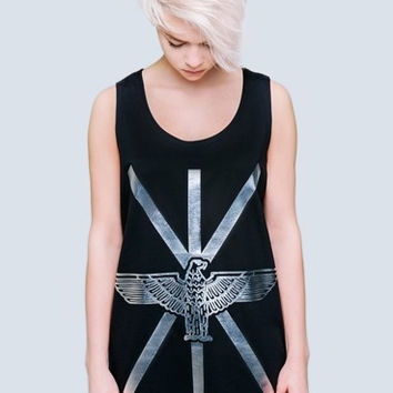 Long Clothing x Boy London Union Vest in Silver Foil