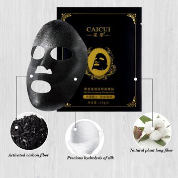 3Pcs Black Face Masks Black Mask Skin Care Sheet Mask Face Beauty Products Face Mask Sheet Anti Wrinkle Skin Whitening
