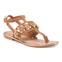 Made In Italy Leather Sandals - Flat Sandals - T.J.Maxx