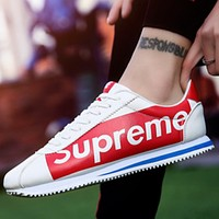 Supreme 2018 spring and autumn new canvas shoes men's casual shoes shoes F0752-1 red