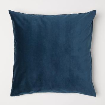 Cotton Velvet Cushion Cover - Teal - Home All | H&M US