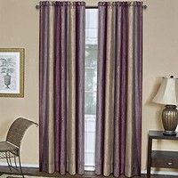 Ben&Jonah Collection Ombre Window Curtain Panel 50x84 - Aubergine