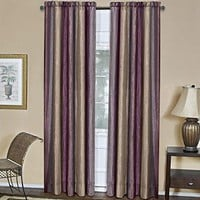 Ben&Jonah Collection Ombre Window Curtain Panel 50x63 - Aubergine