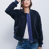 Free People Womens Teddy Aviator Jacket