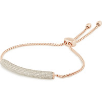 Monica Vinader - Esencia rose gold-plated diamond bracelet