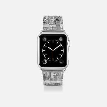 New York toile transparent apple watch band Apple Watch Band (38mm)  by Sharon Turner | Casetify
