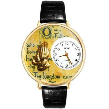 Lord's Prayer Watch in Gold (Large)