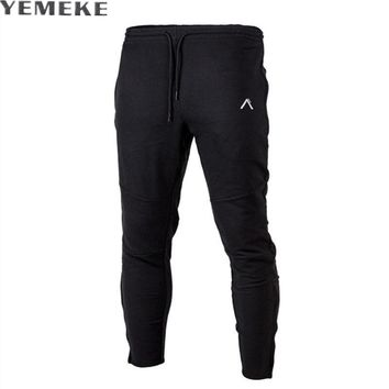 New Spring casual pants men clothing Leisure pure color Sweatpants quality male joggers Gray black