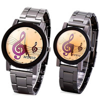 Him & Her Musical Note Watch
