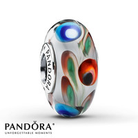 Pandora Glass Charm Multicolor Sterling Silver