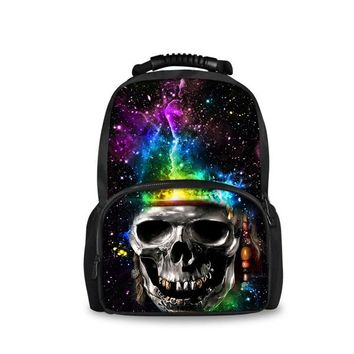 Cool Backpack school FORUDESIGNS Personalized Galaxy Star Backpack for Teen Girls Classic Printing Skull College Student Bagpack Cool Kids Rucksack AT_52_3