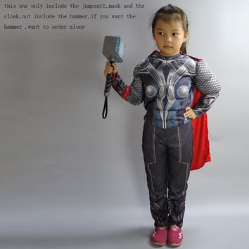 The Avengers Thor Classic Muscle Cosplay Child Captain America Costumes
