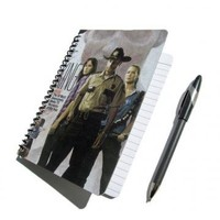 Walking Dead UpCycled Notebook Journal Rick Grimes Zombies Horror by PopCulturePlanners