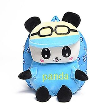Toddler Backpack class Cute Lovely New Baby Toddler Cartoon Panda Animal Backpack Kid Child Schoolbag Canvas Shoulder Bag Zip Soft 2017 Fashion Bags AT_50_3