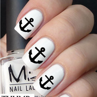 black anchor nail decals nail decal nail art nail sticker