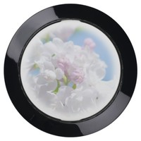 Lilac Flowers USB Charging Station