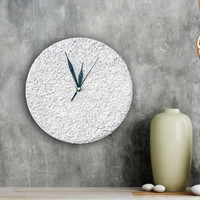 White WALL CLOCK white home decor minimalist  black and white wall clock