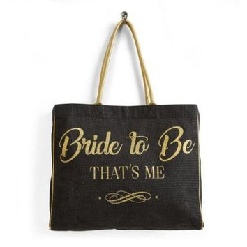 Bride To Be Burlap Tote